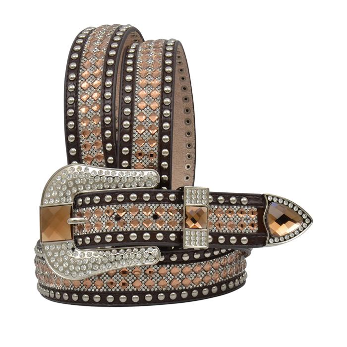 """Angel Ranch 1 1/2"""" Brown Ladies' Fashion Belt"""