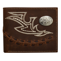 3D Brown Western Bifold Wallet