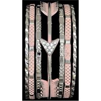 Silver Strike Silver & Pink Arrow Bangle Bracelet Set