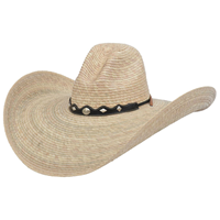 Alamo Quemada Campechana Palm Hat with Gus Crown