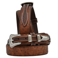 "3D 1 3/8"" Brown Men's Western Fashion Ranger Belt"