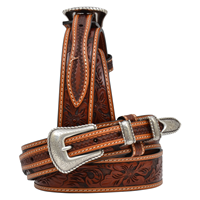 "3D 1 3/8"" Tan Men's Western Fashion Ranger Belt"
