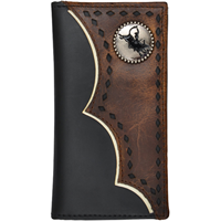3D Black Boys' Rodeo Wallet