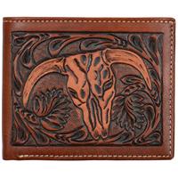 3D Tan Western Bifold Wallet