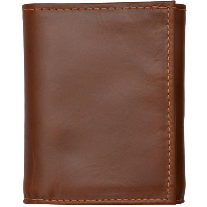 3D Cognac Basic Trifold Wallet