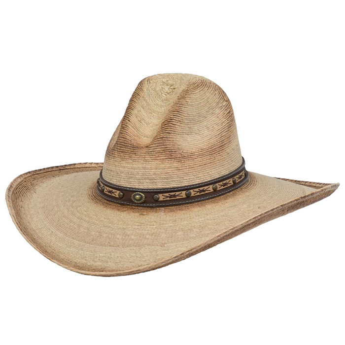 Alamo Palm Hat with Gus Crown