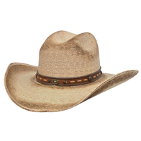 Alamo Palm Hat with Idaho Crown