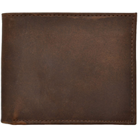 3D Dark Brown Basic Bifold Wallet
