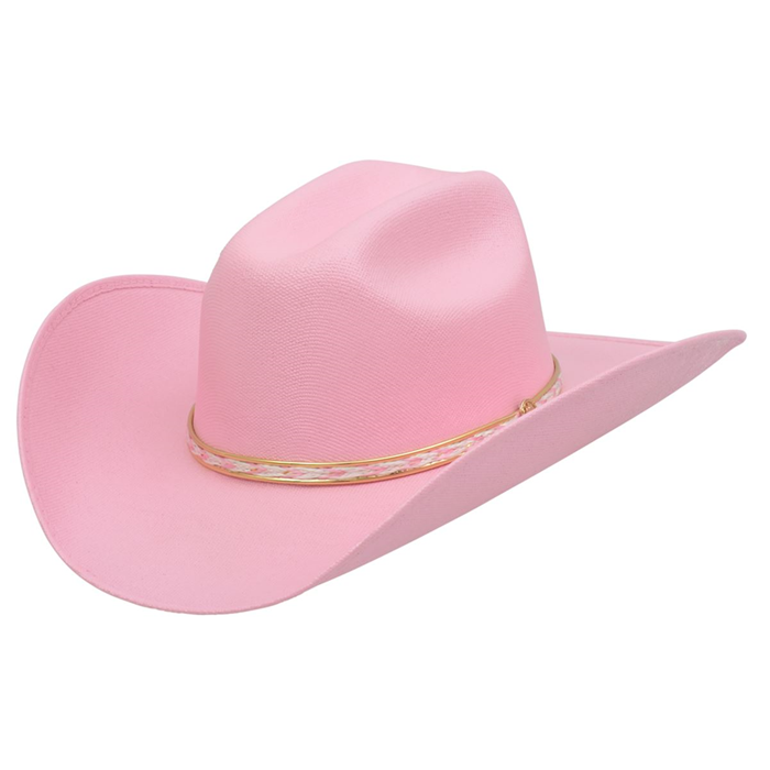 Alamo Kids' Pink Canvas Hat with Truman Crown