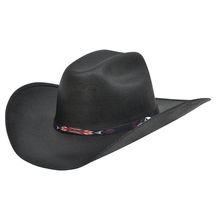 Alamo Kids' Black Canvas Hat with Truman Crown