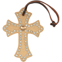 3D Light Brown Saddle Cross