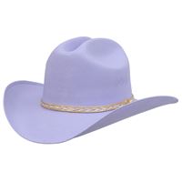 Alamo Kids' Lavender Canvas Hat with Cattleman Crown