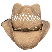 Alamo Shapeable Raffia Hat with Hondo Crown