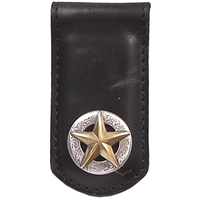 3D Black Western Money Clip