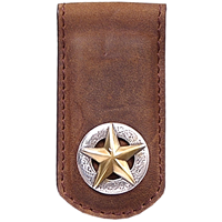 3D Brown Western Money Clip