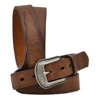 "3D 1 1/4"" Dark Brown Boys' Western Basic Belt"