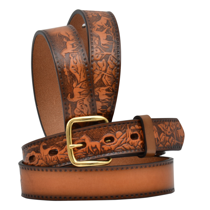 "3D 1 1/4"" Natural Boys' Western Fashion Belt"