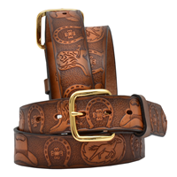 "3D 1 1/4"" Brown Boys' Western Fashion Belt"