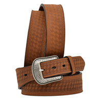 "3D 1 3/4"" Brown Men's Western Fashion Belt"