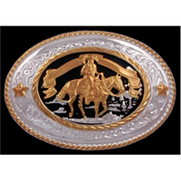 Silver Strike Western Pleasure Men's Buckle