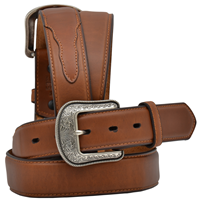 "3D 1 1/2"" Cognac Men's Western Basic Belt"