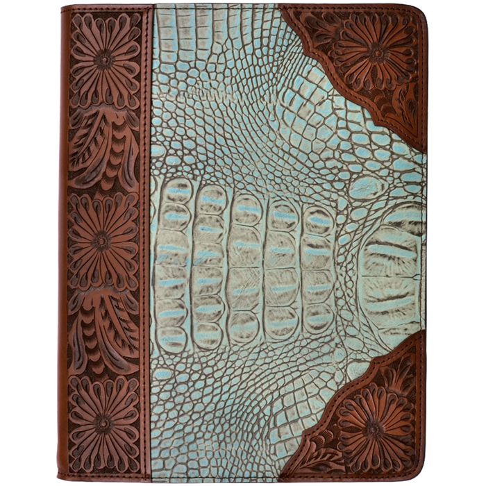 3D Turquoise and Brown iPad® Cover
