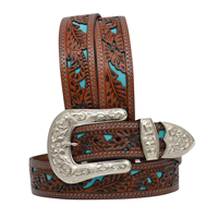 "Angel Ranch 1 1/2"" Natural Ladies' Fashion Belt"