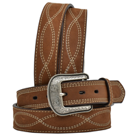 "3D 1 1/2"" Dark Brown Men's Western Fashion Belt"