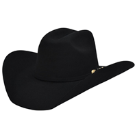 Alamo 7X Black Felt Hat with Truman Crown