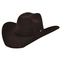Alamo 7X Chocolate Brown Felt Hat with Truman Crown