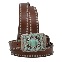 "Angel Ranch 1 1/2"" Dark Brown Ladies' Fashion Belt"