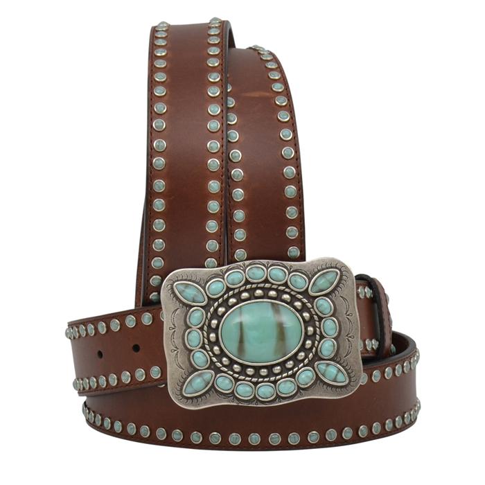 """Angel Ranch 1 1/2"""" Dark Brown Ladies' Fashion Belt"""