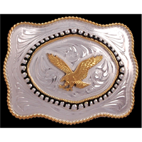 Silver Strike Eagle Men's Buckle