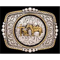 Silver Strike Praying Cowboy Men's Buckle
