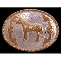 Silver Strike Horse Kids' Buckle