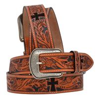"""3D 1 1/2"""" Natural Men's Western Fashion Belt"""