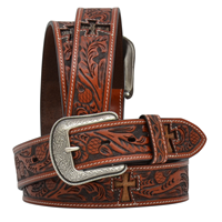 "3D 1 1/2"" Tan Men's Western Fashion Belt"