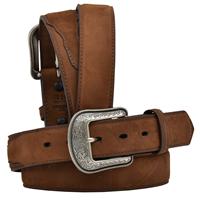 """3D 1 1/2"""" Dark Brown Men's Western Basic Belt"""