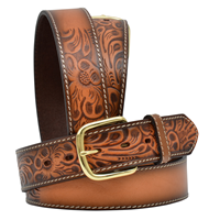 "3D 1 1/2"" Natural Men's Western Fashion Belt"