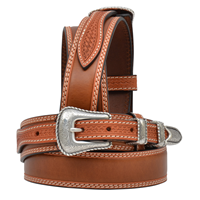"3D 1 3/8"" Natural Men's Western Fashion Ranger Belt"