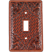 3D Tan Leather Switch Plate