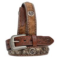 "3D 1 1/2"" Military Brown Men's Western Fashion Belt"