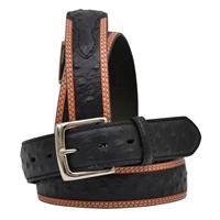 "3D 1 1/2"" Black Men's Dress Belt"