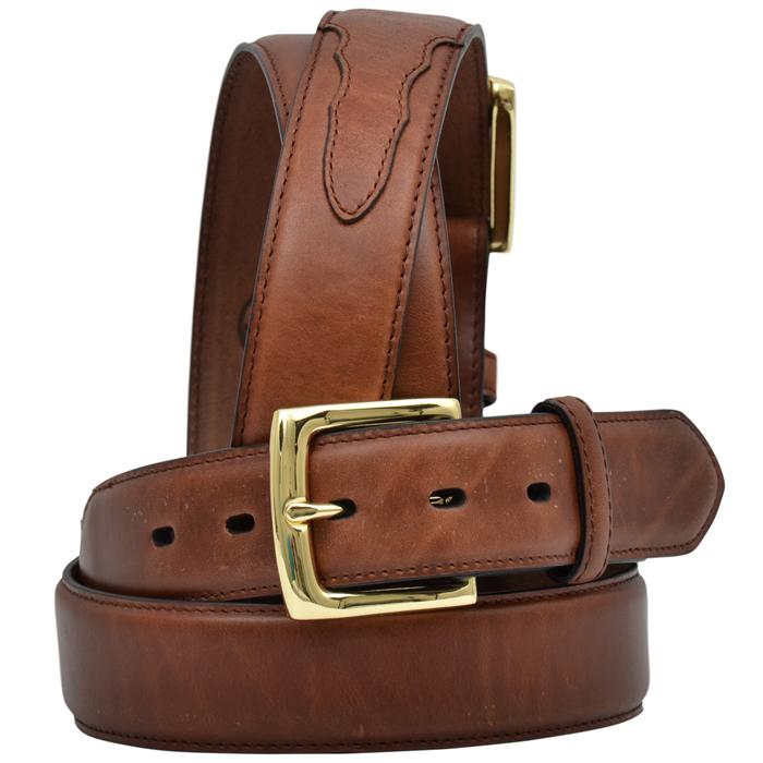 """3D 1 1/2"""" Brown Men's Western Basic Belt"""