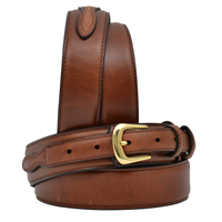 "3D 1 3/8"" Brown Men's Western Basic Ranger Belt"
