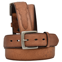 "3D 1 1/2"" Dark Brown Men's Western Basic Belt"