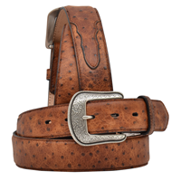 "3D 1 1/2"" Brown Men's Dress Belt"