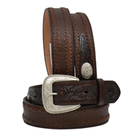 "Western Classics 1 1/2"" Dark Brown Men's Western Fashion Belt"