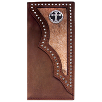 3D Dark Brown Western Rodeo Wallet