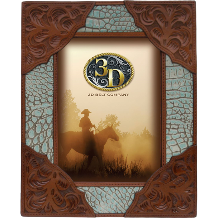 "3D 5"" x 7"" Leather Picture Frame"